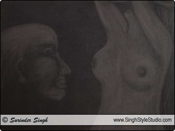 Dibujo figurativo, Nova Deli, Índia